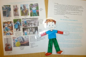 Flat Stanley home from his holiday in Orange City.